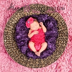 Purple Rhinestone Hot Pink Glitter Headband and Petti Romper
