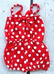 Red White Polka Dot Baby Jumpsuit