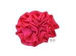 Hot Pink Satin Puff Rolled Rosette Flowers