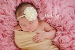 Ivory Satin Flower Baby Headband