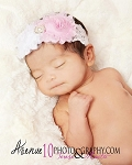 Vintage Pink and White Lace Baby Headband