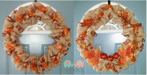 Easy Make it Yourself Fall Wreath