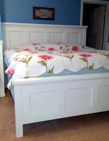 DIY King Size Farm House Bed