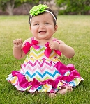 Rainbow Chevron Swing Top Set
