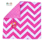 Hot Pink Double Minky Binky Blanket