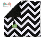 Black Double Minky Binky Blanket
