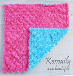 Hot Pink and Turquoise Double Minky Lovey