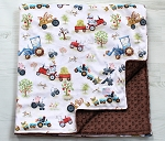 Funny Farm Friends Luxury Minky Blanket