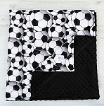 Soccer Minky Baby Blanket - You choose minky back