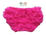 Hot Pink Chiffon Ruffle Diaper Cover