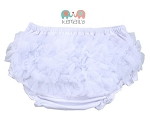 White Chiffon Ruffle Diaper Cover