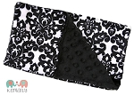 Black Damask Double Baby Minky Burp Cloth