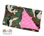 Camo on Hot Pink Double Baby Minky Burp Cloth