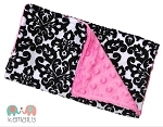 Damask Double Baby Minky Burp Cloth