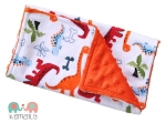 Dinosaur Double Baby Minky Burp Cloth