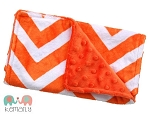 Orange Chevron Double Baby Minky Burp Cloth