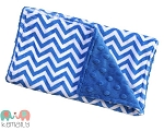 Royal Blue Chevron Double Baby Minky Burp Cloth