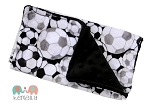 Soccer Double Baby Minky Burp Cloth