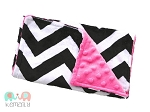 Black Chevron On Hot Pink Double Baby Minky Burp Cloth