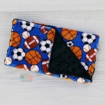 Baseball Football Soccer Burp Cloth - Sports - Baby Shower Gift - Nursing - New Mom Essentials, Burp Rag