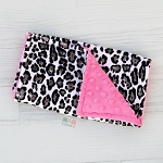 Leopard Minky Burp Cloth