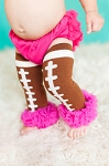 Hot Pink Ruffle Football Leg Warmers