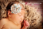 Country Chic Chiffon Rosette Flower Baby Headband