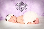 Ivory Chiffon Bloomers and Pearl Rhinestone Baby Headband Set