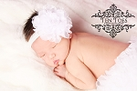 White Shabby Lace Baby Headband