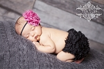 Hot Pink Leopard Baby Headband and Matching Bloomers
