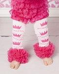 Princess Chiffon Ruffle Girls Leg Warmers