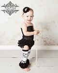 White Pearl Rhinestone Baby Headband Damask Leggings and Bloomers