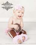 Football Pink Chiffon Ruffle Leg Warmers