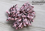 Pink Camo Korker Hairbow