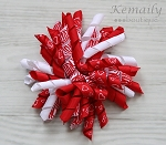 Red Zebra Korker Hairbow