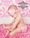 Pink Chiffon Baby Bloomers and Matching Heart Baby Headband Set