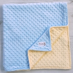 Baby Blue and Yellow Minky Baby Blanket