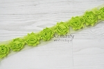 1-1/2in MINI Lime Shabby Chiffon Trim by the Yard