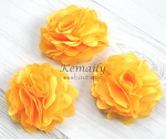 3 pack Yellow Satin and Mesh Flower Supplies