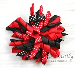 Red Black Ladybug Korker Hairbow