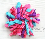 Cotton Candy Korker Hairbow