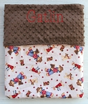 Personalized Cowboy Teddy Bear Minky Baby Blanket