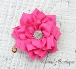 Vintage Hot Pink Satin Flower