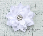 Vintage White Satin Flower