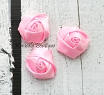 3 Pack Light Pink Satin Rosette Flower