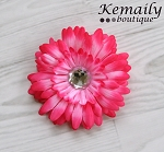 Hot Pink Gerber Daisy Hair Clip