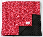 Red Classic Bandana Minky Baby Blanket From Kemaily