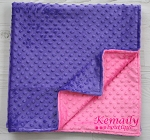 Hot Pink and Purple Double Minky Blanket From Kemaily