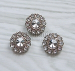 3 Pack Clear Acrylic Embellishment Rhinestone Buttons 25mm