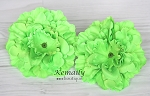 Lime Green Soft Silk Peony Flower